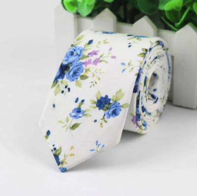 Choose To Rep Wedding Day white floral tie, paisley tie, Men's ties