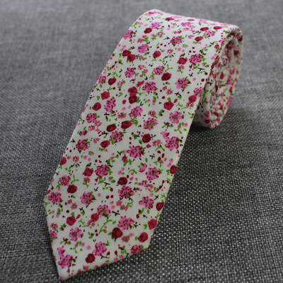 Choose To Rep White Daisy Tie, Floral Tie, paisley ties