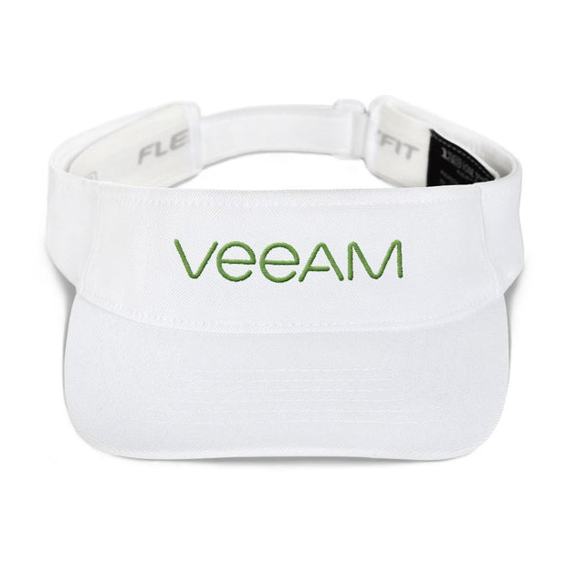 Choose To Rep White Veeam Flexfit Visor