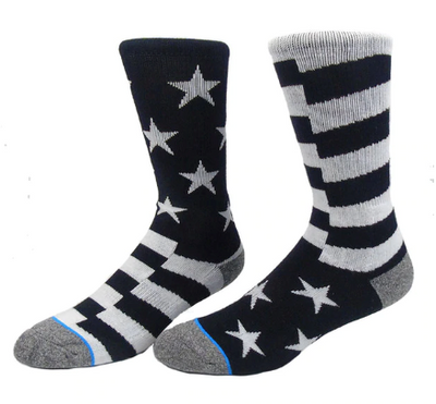 United States Black & White Flag Socks - Speciality