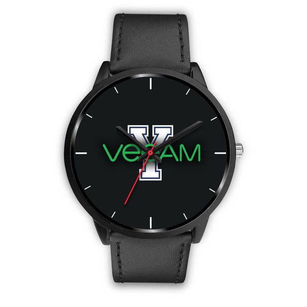 wc-fulfillment Black Watch Mens 40mm / Black Leather Veeam Watch