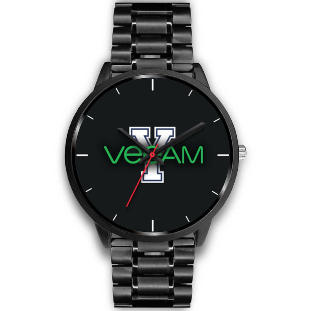 wc-fulfillment Black Watch Mens 40mm / Black Metal Link Veeam Watch