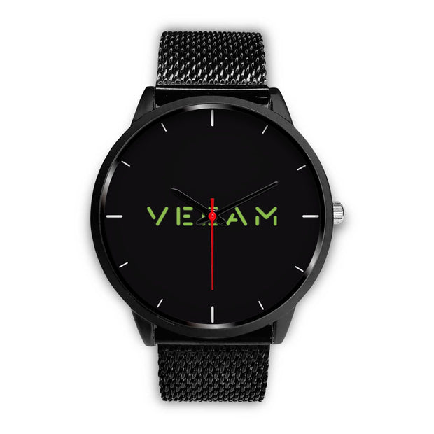 wc-fulfillment Black Watch Mens 40mm / Black Metal Mesh Veeam Watch