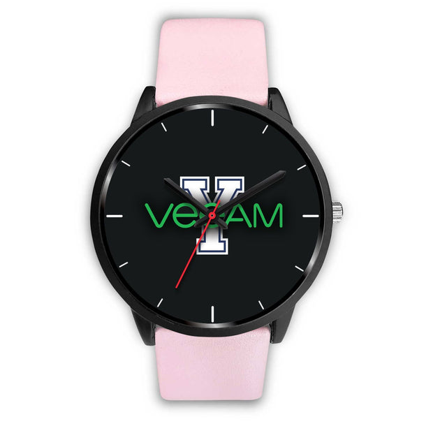 wc-fulfillment Black Watch Mens 40mm / Pink Leather Veeam Watch