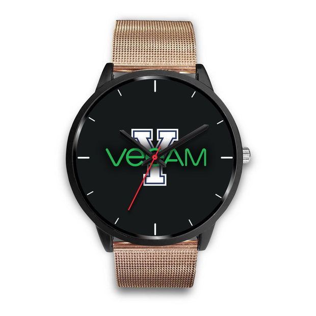 wc-fulfillment Black Watch Mens 40mm / Rose Gold Metal Mesh Veeam Watch