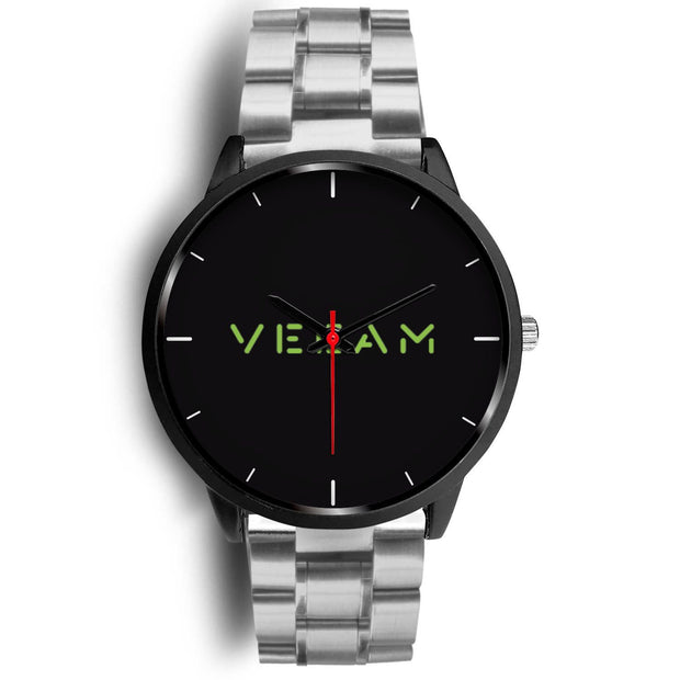 wc-fulfillment Black Watch Mens 40mm / Silver Metal Link Veeam Watch