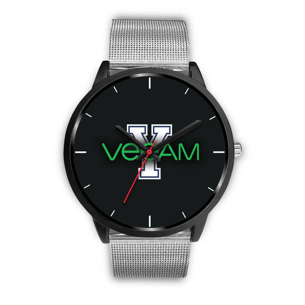 wc-fulfillment Black Watch Mens 40mm / Silver Metal Mesh Veeam Watch