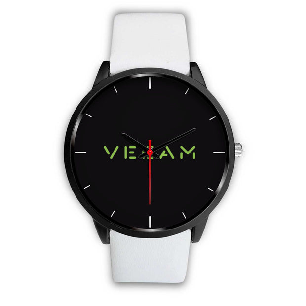 wc-fulfillment Black Watch Mens 40mm / White Leather Veeam Watch