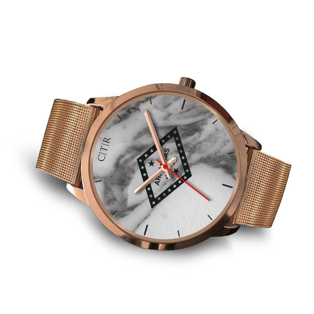 Arkansas Flag Watch - Dark Marble - Choose To Rep