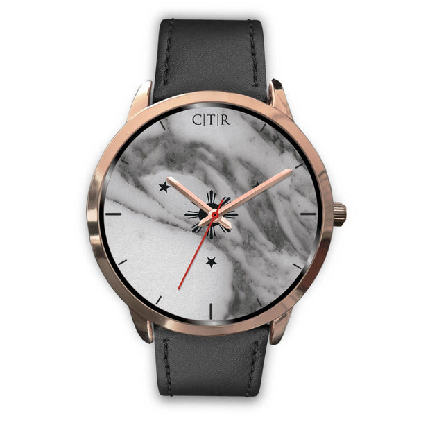 wc-fulfillment Rose Gold Watch Mens 40mm / Black Leather Philippines - Dark Marble