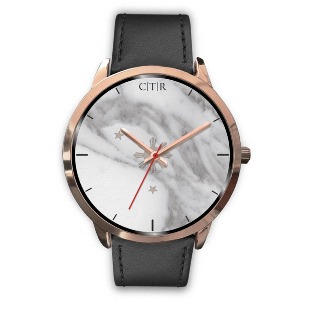 wc-fulfillment Rose Gold Watch Mens 40mm / Black Leather Philippines - Light Marble