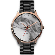 wc-fulfillment Rose Gold Watch Mens 40mm / Black Metal Link Philippines - Dark Marble