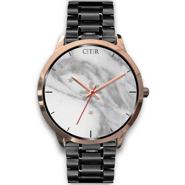 wc-fulfillment Rose Gold Watch Mens 40mm / Black Metal Link Philippines - Light Marble