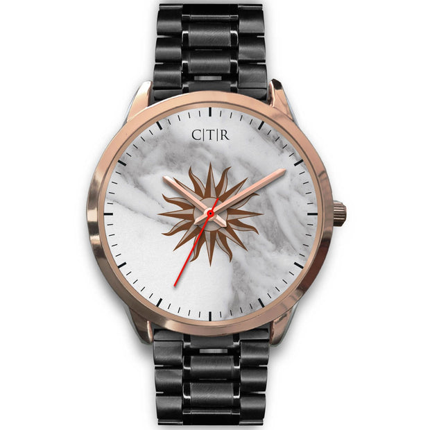 wc-fulfillment Rose Gold Watch Mens 40mm / Black Metal Link Uruguay - Light Marble