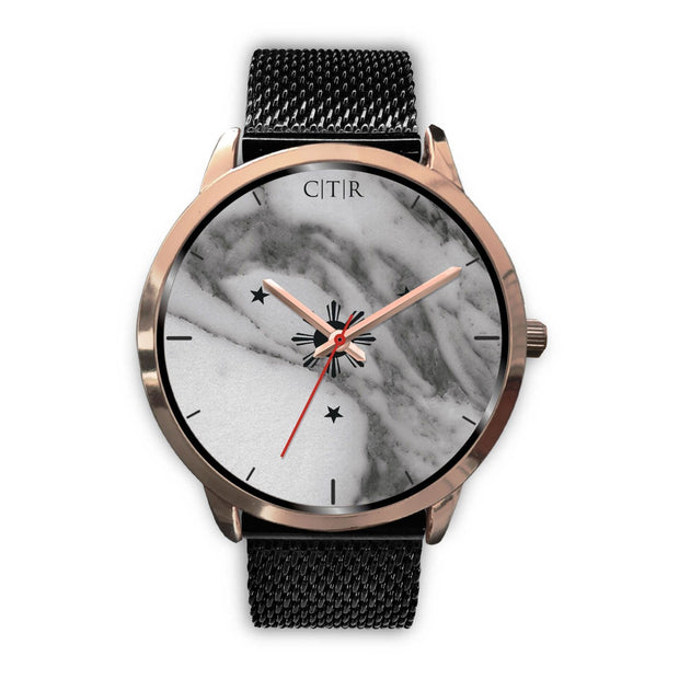 wc-fulfillment Rose Gold Watch Mens 40mm / Black Metal Mesh Philippines - Dark Marble
