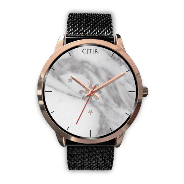 wc-fulfillment Rose Gold Watch Mens 40mm / Black Metal Mesh Philippines - Light Marble