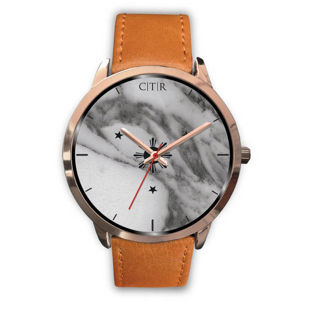 wc-fulfillment Rose Gold Watch Mens 40mm / Brown Leather Philippines - Dark Marble