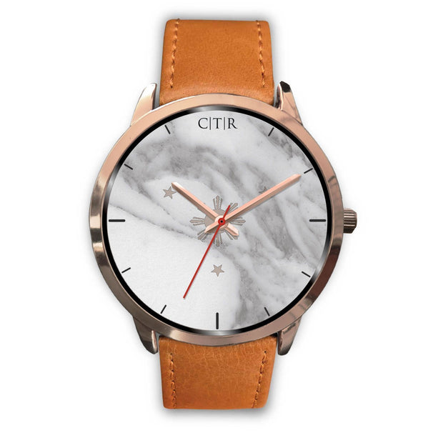 wc-fulfillment Rose Gold Watch Mens 40mm / Brown Leather Philippines - Light Marble
