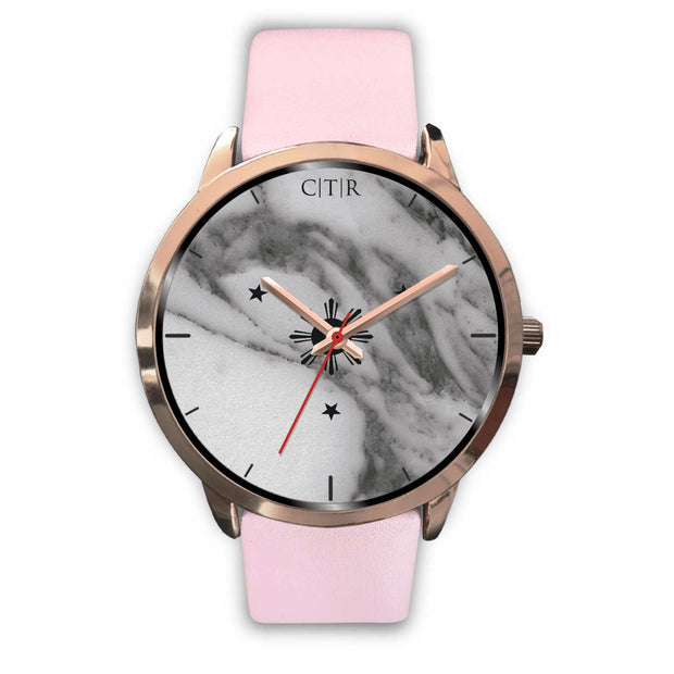 wc-fulfillment Rose Gold Watch Mens 40mm / Pink Leather Philippines - Dark Marble