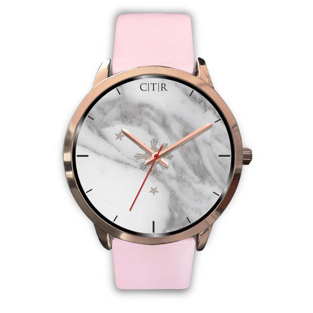 wc-fulfillment Rose Gold Watch Mens 40mm / Pink Leather Philippines - Light Marble