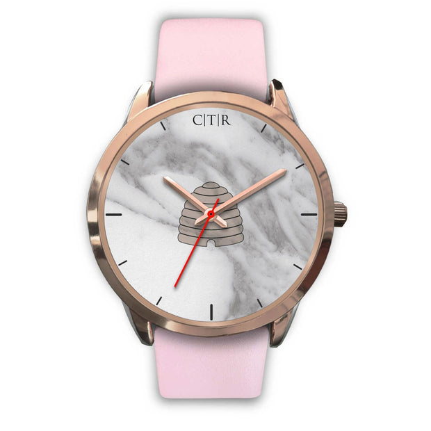 wc-fulfillment Rose Gold Watch Mens 40mm / Pink Leather Utah - Light Marble