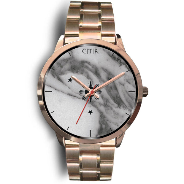 wc-fulfillment Rose Gold Watch Mens 40mm / Rose Gold Metal Link Philippines - Dark Marble