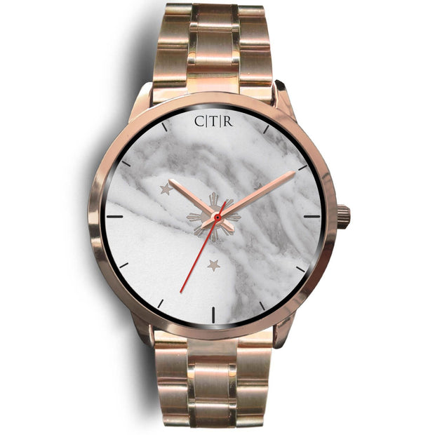 wc-fulfillment Rose Gold Watch Mens 40mm / Rose Gold Metal Link Philippines - Light Marble
