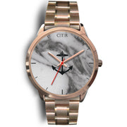 wc-fulfillment Rose Gold Watch Mens 40mm / Rose Gold Metal Link Rhode Island - Dark Marble