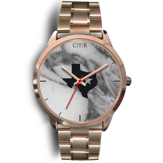 wc-fulfillment Rose Gold Watch Mens 40mm / Rose Gold Metal Link Texas - Dark Marble