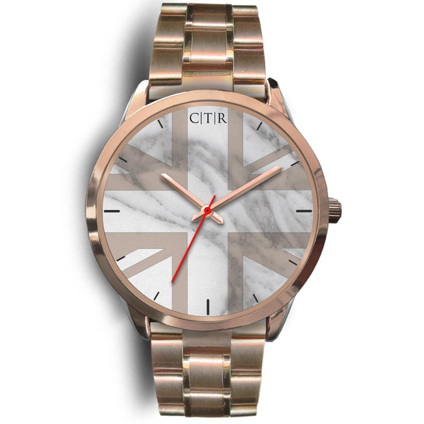 wc-fulfillment Rose Gold Watch Mens 40mm / Rose Gold Metal Link United Kingdom - Light Marble