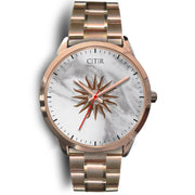 wc-fulfillment Rose Gold Watch Mens 40mm / Rose Gold Metal Link Uruguay - Light Marble
