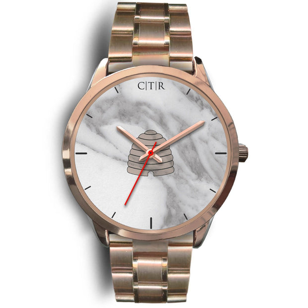 wc-fulfillment Rose Gold Watch Mens 40mm / Rose Gold Metal Link Utah - Light Marble