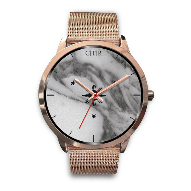 wc-fulfillment Rose Gold Watch Mens 40mm / Rose Gold Metal Mesh Philippines - Dark Marble