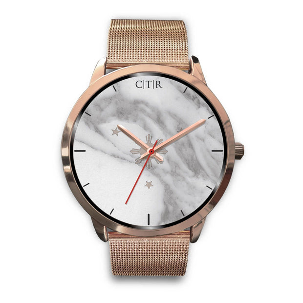 wc-fulfillment Rose Gold Watch Mens 40mm / Rose Gold Metal Mesh Philippines - Light Marble