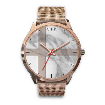 wc-fulfillment Rose Gold Watch Mens 40mm / Rose Gold Metal Mesh Sweden - Light Marble