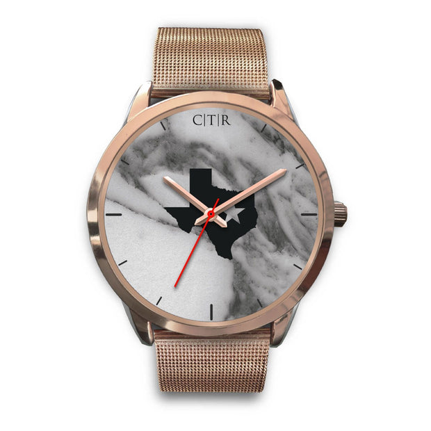 wc-fulfillment Rose Gold Watch Mens 40mm / Rose Gold Metal Mesh Texas - Dark Marble