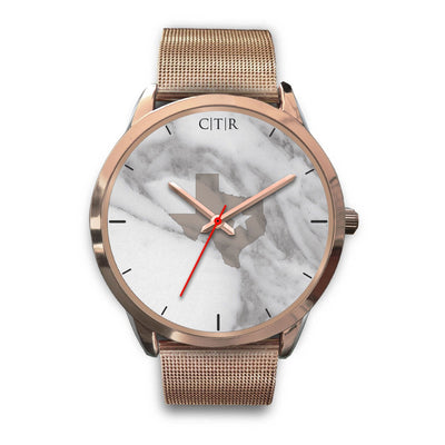 wc-fulfillment Rose Gold Watch Mens 40mm / Rose Gold Metal Mesh Texas - Light Marble