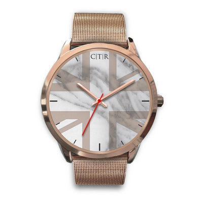 wc-fulfillment Rose Gold Watch Mens 40mm / Rose Gold Metal Mesh United Kingdom - Light Marble