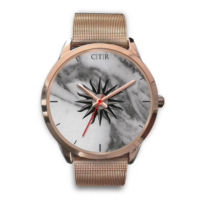 wc-fulfillment Rose Gold Watch Mens 40mm / Rose Gold Metal Mesh Uruguay - Dark Marble
