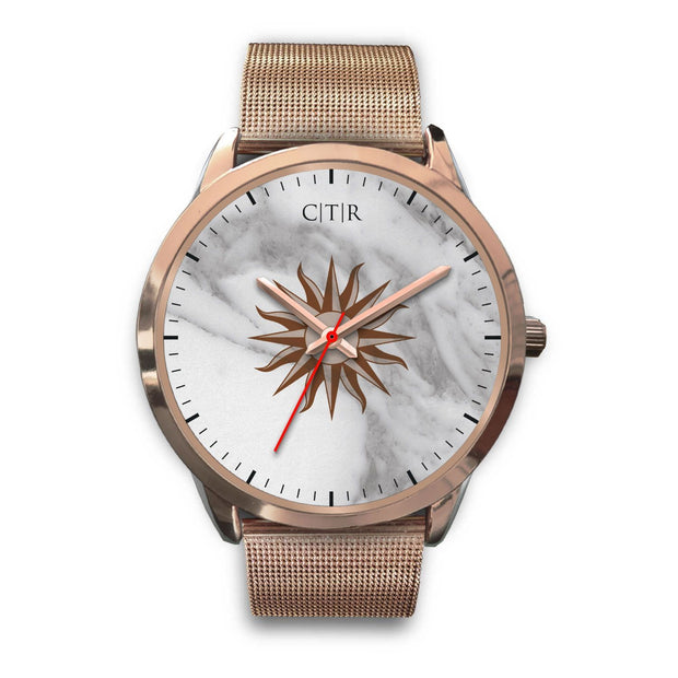 wc-fulfillment Rose Gold Watch Mens 40mm / Rose Gold Metal Mesh Uruguay - Light Marble