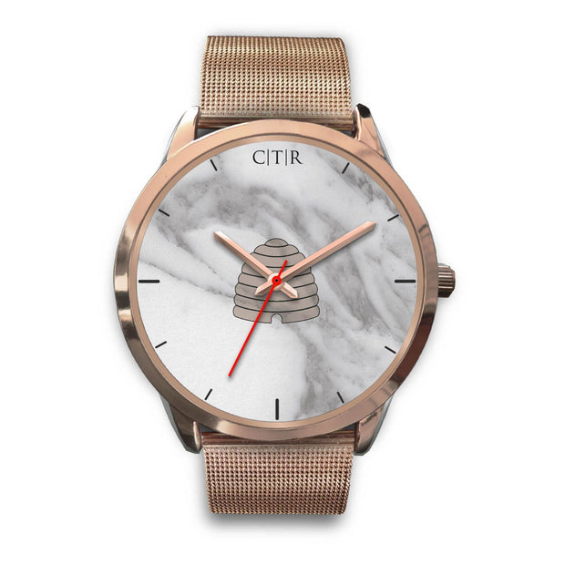 wc-fulfillment Rose Gold Watch Mens 40mm / Rose Gold Metal Mesh Utah - Light Marble