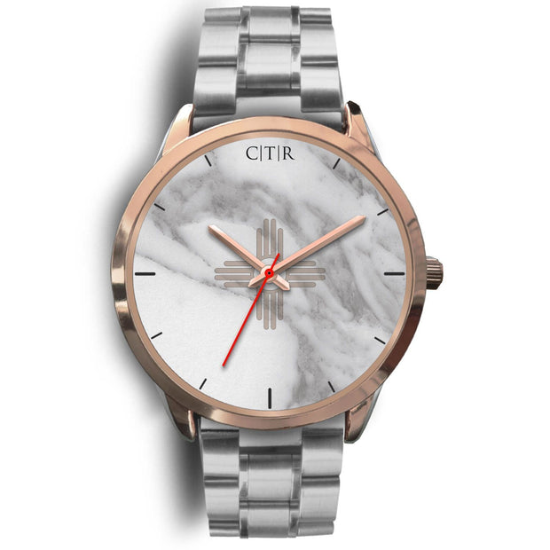 New Mexico Flag Watch - Light Marble - Choose To Rep