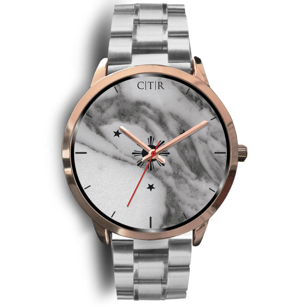 wc-fulfillment Rose Gold Watch Mens 40mm / Silver Metal Link Philippines - Dark Marble