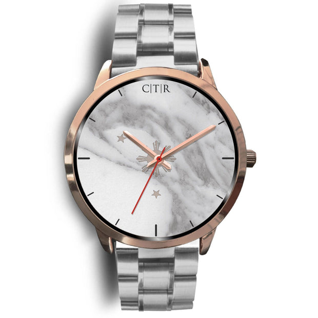 wc-fulfillment Rose Gold Watch Mens 40mm / Silver Metal Link Philippines - Light Marble