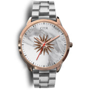 wc-fulfillment Rose Gold Watch Mens 40mm / Silver Metal Link Uruguay - Light Marble