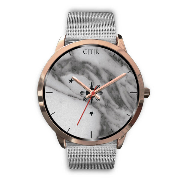 wc-fulfillment Rose Gold Watch Mens 40mm / Silver Metal Mesh Philippines - Dark Marble