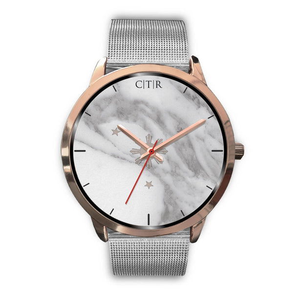 wc-fulfillment Rose Gold Watch Mens 40mm / Silver Metal Mesh Philippines - Light Marble