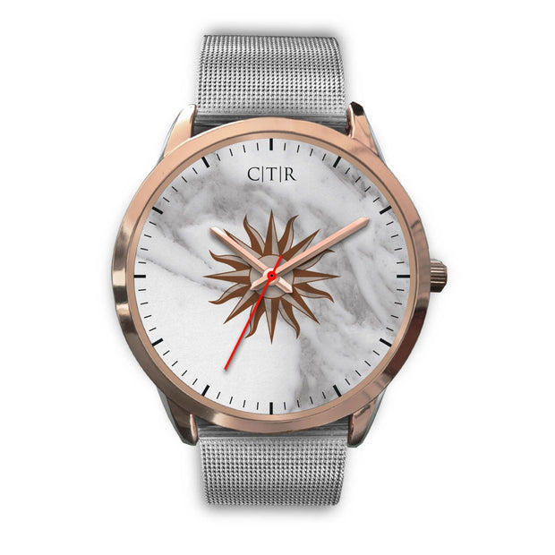 wc-fulfillment Rose Gold Watch Mens 40mm / Silver Metal Mesh Uruguay - Light Marble