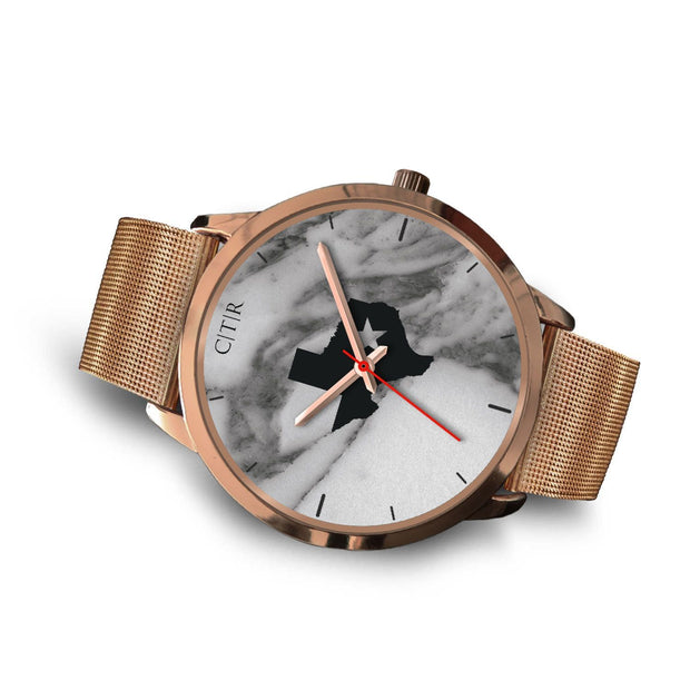 wc-fulfillment Rose Gold Watch Texas - Dark Marble