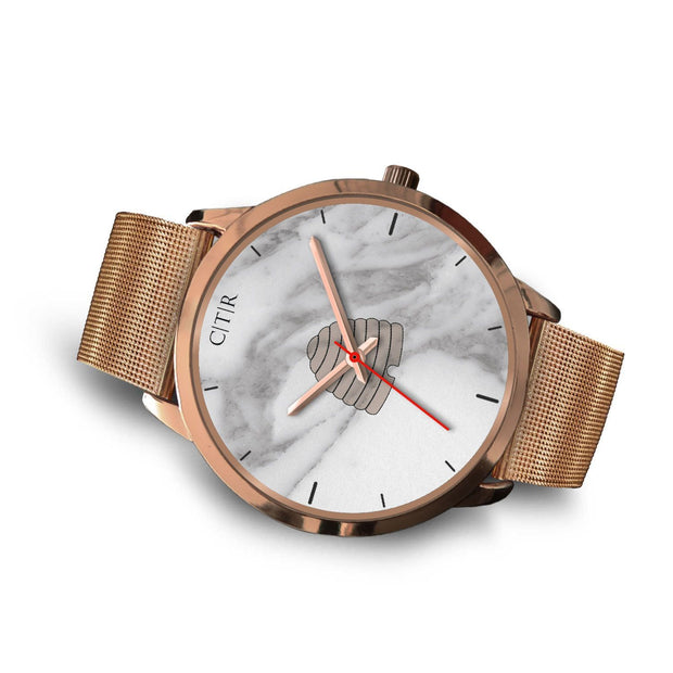 wc-fulfillment Rose Gold Watch Utah - Light Marble